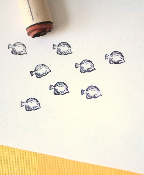 Yellow Tang Rubber Stamp