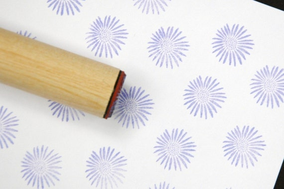 African Daisy  Rubber Stamp
