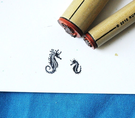 Seahorse Rubber Stamp Set