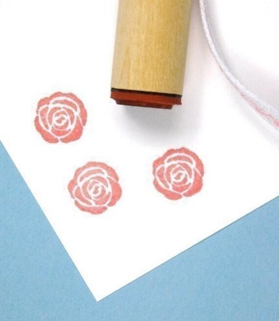 Solid Rose Rubber Stamp