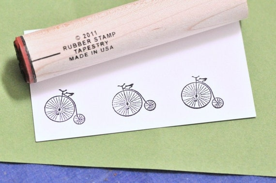 Antique Bicycle Rubber Stamp