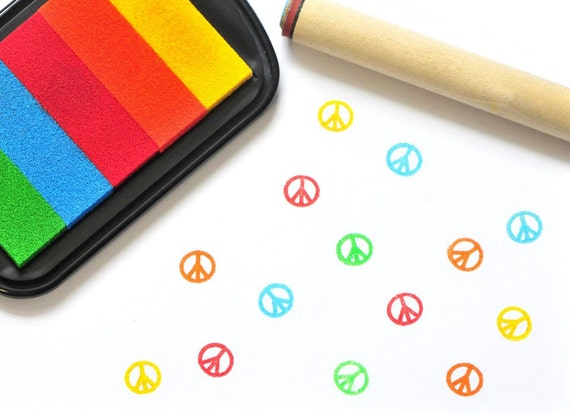 Peace Rubber Stamp