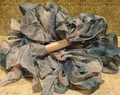 Hand Dyed Seam Binding Ribbon Butterfly Blue