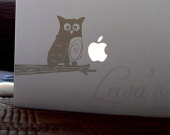 Hoot Owl Laptop Notebook Macbook Computer Decal