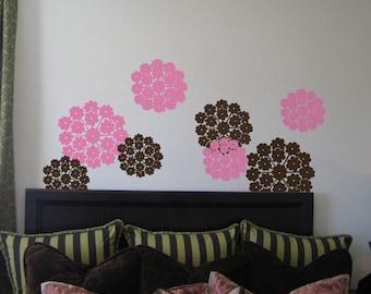 Flower Wheel Wall Decals