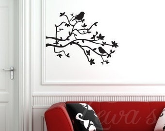 Birds and Branches Wall Decal Large