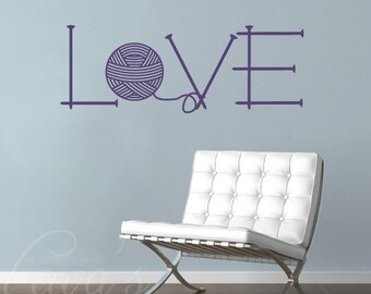 Knit Love Wall Decal Large