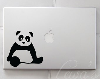 Panda Small Laptop / Macbook / Notebook Computer Decal