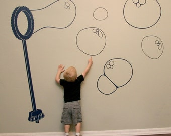 Bubble Wand Wall Decal Extra Large