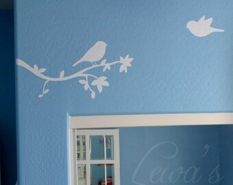 Birdies and Branch Vinyl Wall Decal