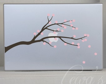 Cherry Blossom Branch Laptop Vinyl Decal