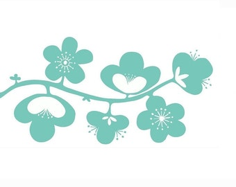 Flower Vine Wall Decal Large