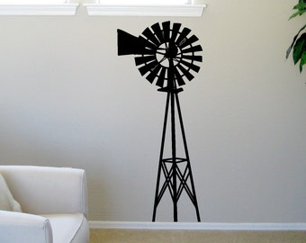 Windmill Wall Decal Large