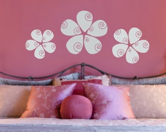 Swirled Flowers Wall Decals