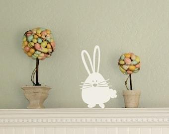 Easter Bunny Wall Decal, Cute Bunny Decal, Easter Decor, Easter Wall Decor, Cute Nursery Decor, Cute Nursery