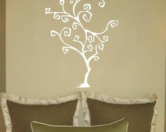 Swirly Tree Wall Decal
