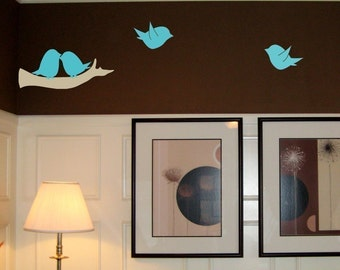 On SALE- Lovebird Family Wall Decal Set