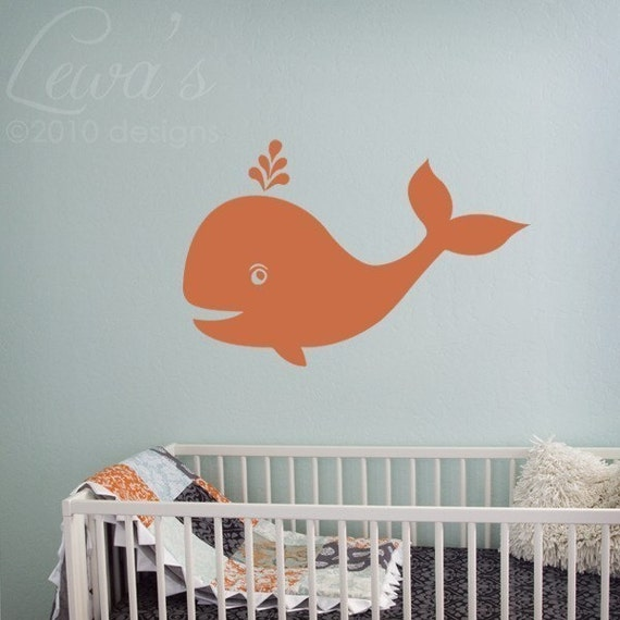 Cute Whale Wall Decal