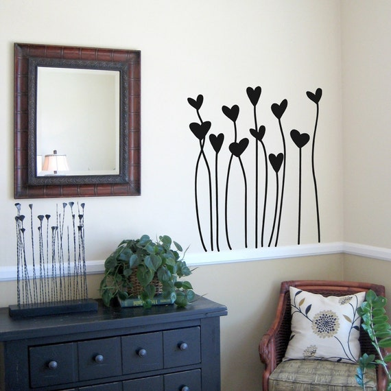 Growing Hearts Wall Decal Large