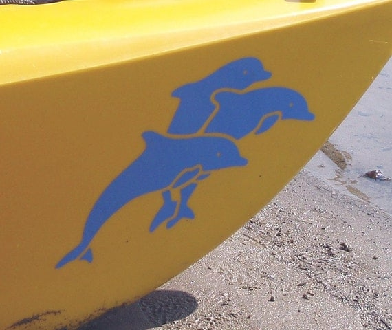Group of Dolphins, MEDIUM or LARGE, Kayak Decal