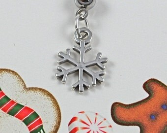 Snowflake Charm Maternity Belly Button Ring