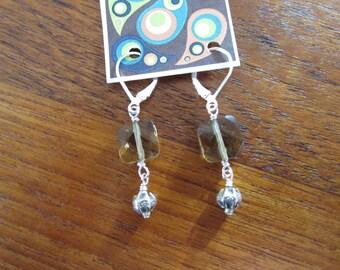 Smoky Quartz Thai Silver Earrings