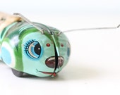 Vintage Tin Toy Green Caterpillar