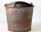 RESERVED Vintage Dairy Galvanized Bucket