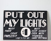 Vintage Carnival Sign - Put Out My Lights Game