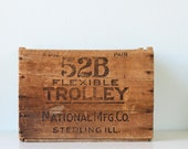 Vintage Wooden Crate - 52B Flexible Trolley