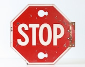 Vintage STOP Sign from a school bus