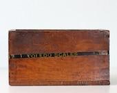 Vintage Wooden Crate - TOLEDO SCALES