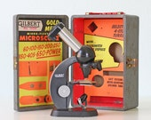 Vintage Gilbert Microscope and Case