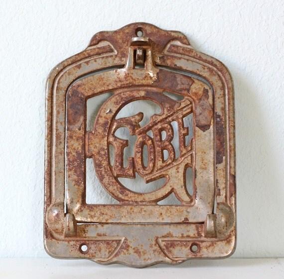 Vintage Cast Iron Globe Stove Door