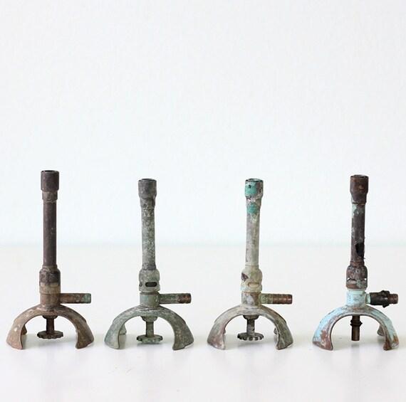 RESERVED Vintage Set of 4 Bunsen Burners
