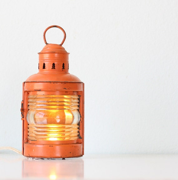 Vintage Orange Lantern
