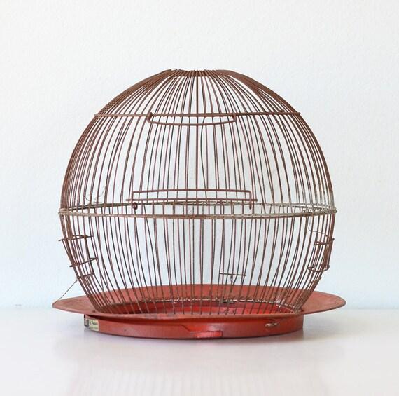 Round Red Birdcage