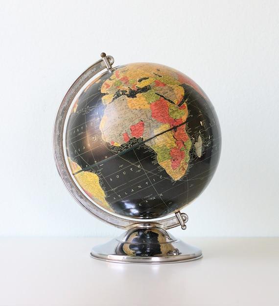 Vintage Black Starlight Globe by Replogle
