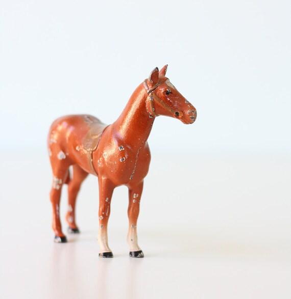 """Vintage Lead Horse 5"""" tall"""