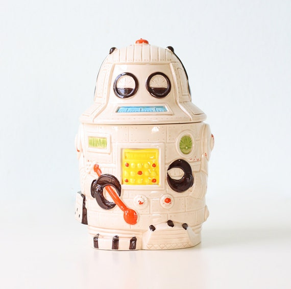 Vintage Robot Cookie Jar