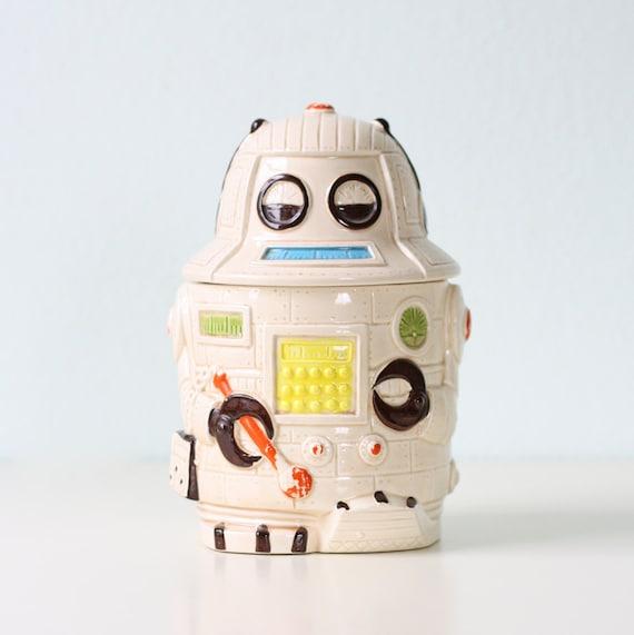 Vintage Robot Cookie Jar