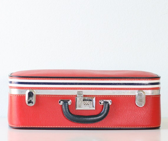Vintage Red Suitcase by Ventura