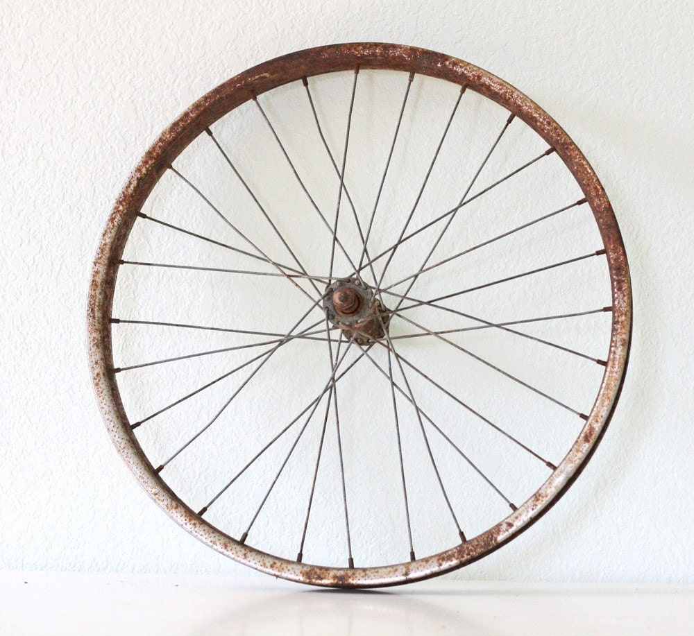 vintage bicycle wheel by bellalulu on etsy