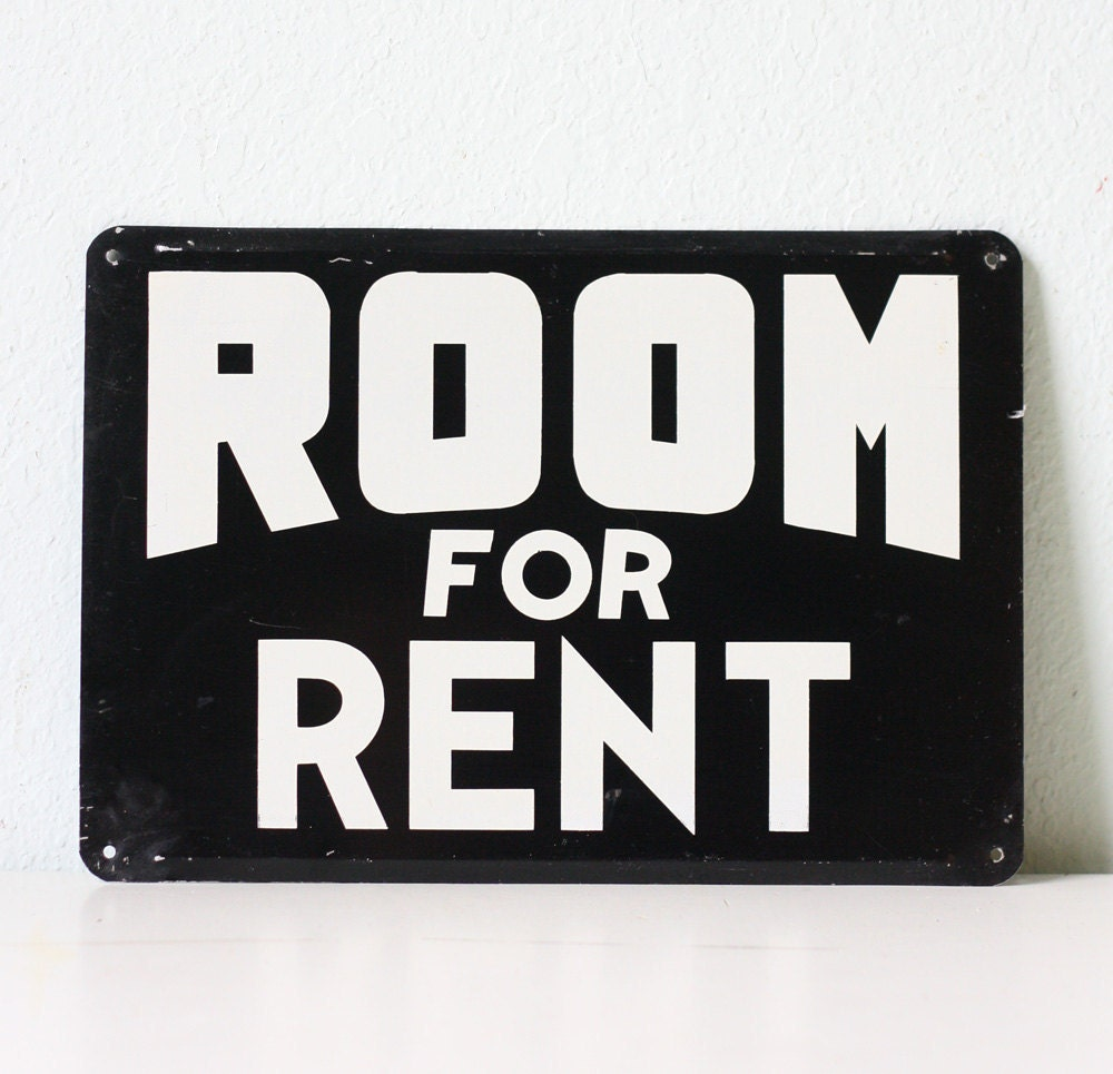 Apartment For Rent Sign: Vintage Sign ROOM FOR RENT
