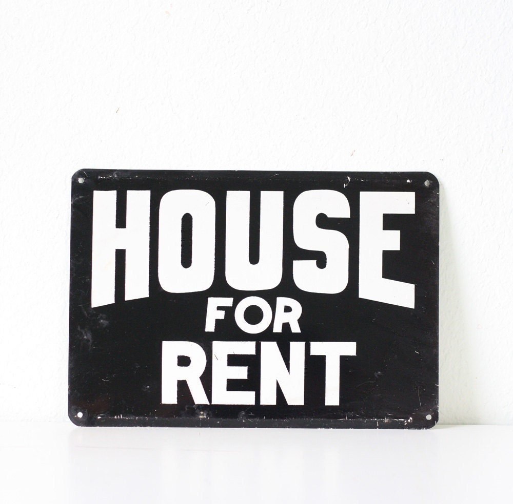 House Rent Com: Vintage Sign HOUSE FOR RENT By Bellalulu On Etsy