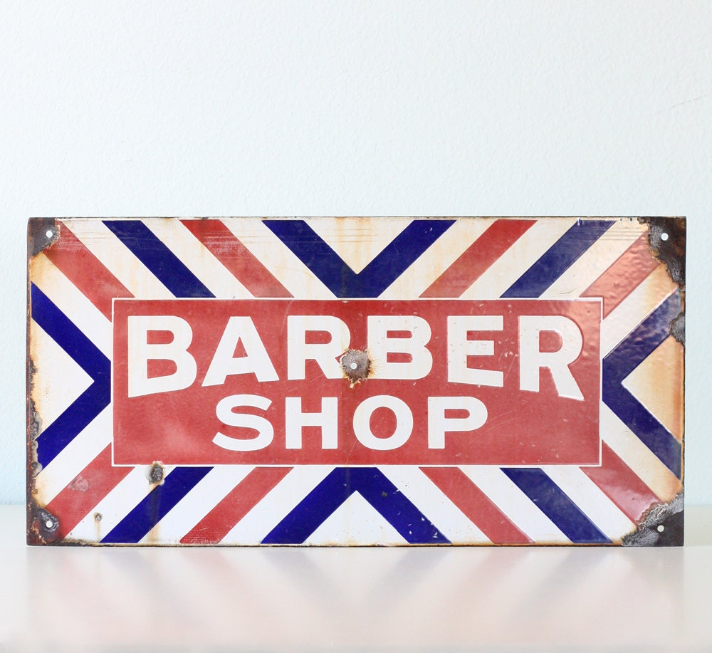 Barber Vintage 2017 : Vintage Barber Shop Sign by bellalulu on Etsy