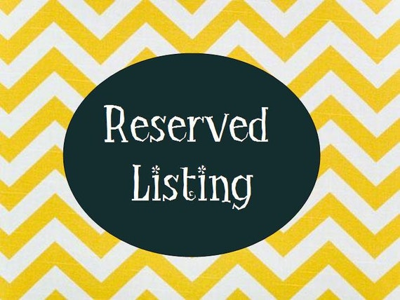 RESERVED listing for BJake Gerl