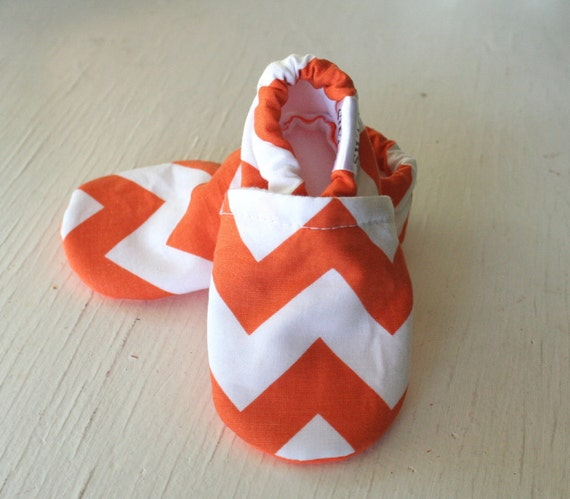 CHEVRON Baby Shoes Booties zigzag boy girl  toddler infant newborn slippers  aqua green grey brown black red pink navy orange yellow SWAG