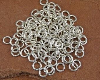 Sterling Silver Jump Rings - 100 18 gauge 3.5mm ID Jump Rings