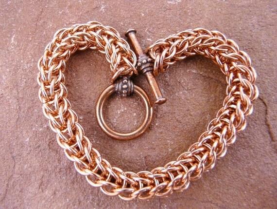 Chainmaille Kit - Full Persian Unisex Copper Bracelet Kit